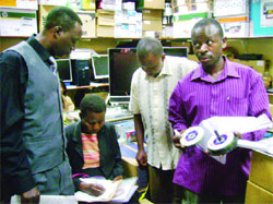Ugandan Govt Officials Viewing Pirated Software: Image Source: New Vision